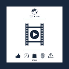 Film strip with play