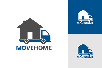Moving Home Logo Template Design