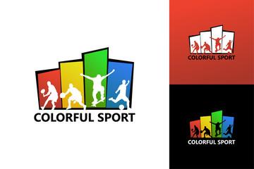 Colorful Sport Logo Template Design