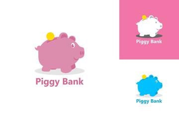 Piggy Bank Logo Template Design