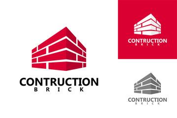 Brick Contruction Logo Template Design