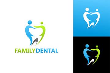 Family Dental Logo Template Design