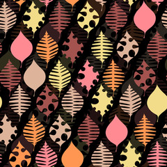 pattern with the image of plant leaves. theme of nature. Can be used in website design, etc.