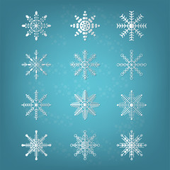 Vector illustration of Christmas and New Year concept on background