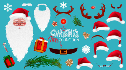 Christmas Cartoon Photo Booth Props collection.