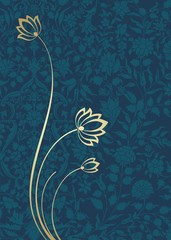 water lily, wedding card design, royal India