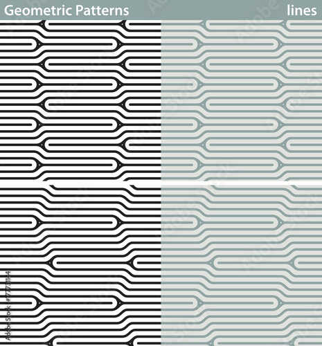 Geometric Patterns Lines Four Seamless Patterns With Geometric Fascinating Free Vector Geometric Patterns