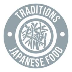 Sushi japanese food logo, simple gray style