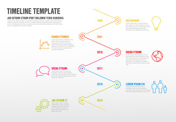 Vector Infographic timeline template