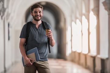 Attractive male student