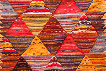Deurstickers Marokko Texture of berber traditional wool carpet, Morocco, Africa