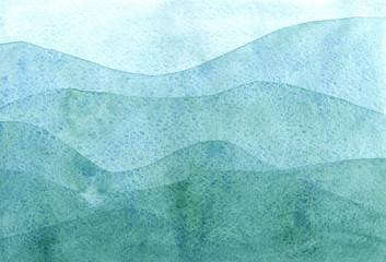 watercolor pattern with mountains