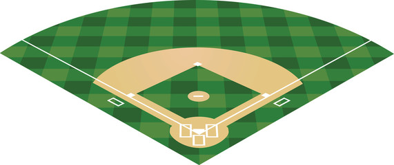 Baseball field. vector illustration