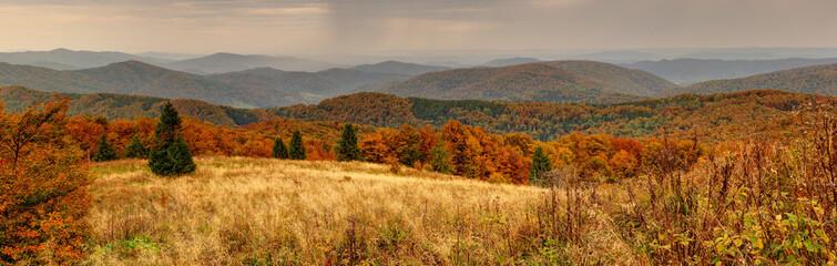 Fototapeta Panorama Bieszczady. obraz