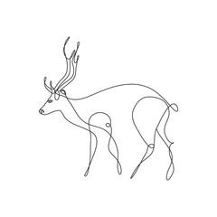 Vector deer abstract logo