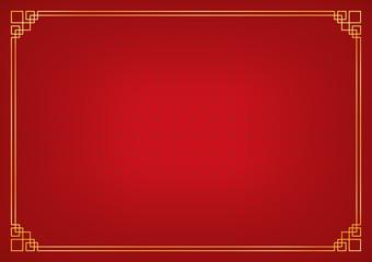 chinese new year background, abstract oriental wallpaper, red circle pattern inspiration, vector illustration