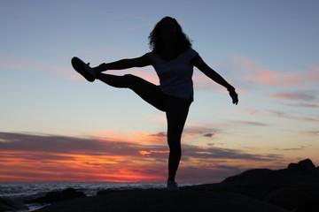 Ballo. Balletto, Ginnastica, Yoga,Tramonto, Mare, Sunset, Fotografia, Fotografo, Corsica, Landscape, Colori, Sun, Sole, Rosso, Francia