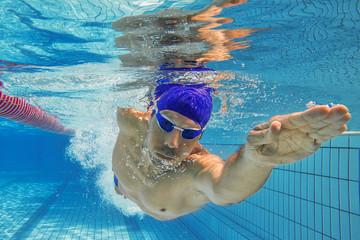 Schwimmen Kraulen Gleiten Unterwasser
