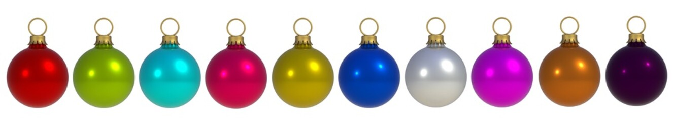 Christmas Holiday Balls isolated on a white background, 3D rendering