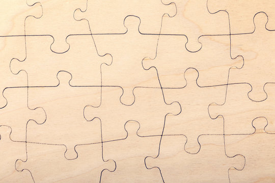 wood jigsaw puzzle texture