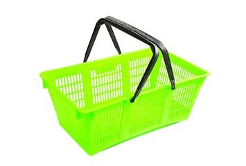 Shopping basket on white