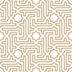arabic geometric seamless ornament pattern