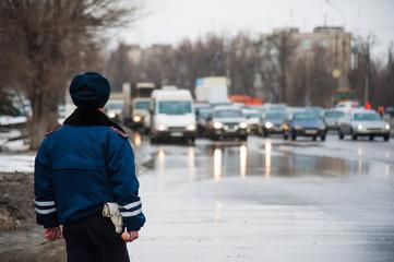 Inspector of traffic police, DPS