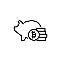 Premium cryptocurrency icon or logo in line style