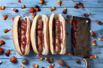 scary finger-shaped hotdogs