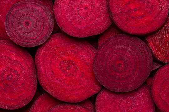 Beetroot slice background. Beetroot