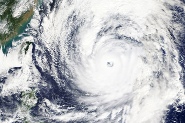 Typhoon LAN heading towards Japan in October 2017 - Modified elements of this image furnished by NASA