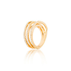 Golden ring isolated on white