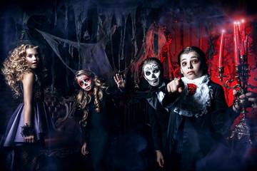 four carnival children