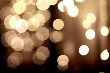 festive golden bokeh background