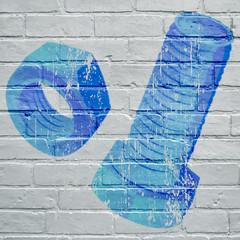 Graffiti. Boulon et écrou