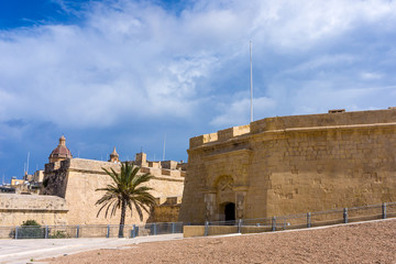 Entrance to fortress,   Malta