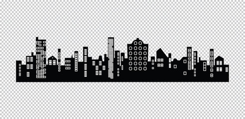 Vector cities silhouette.