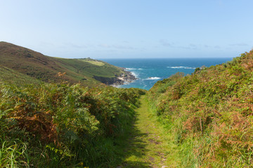 Fototapete - Coast path towards Portheras Cove Cornwall located South West of St Ives between Pendeen and Morvah