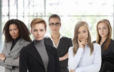 Confident businesswomen at office