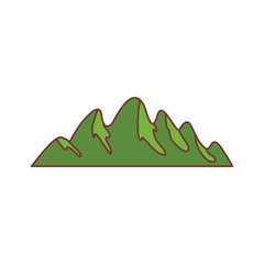 Mountain icon, cartoon style