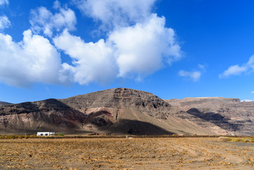 landscape at Lanzarote, Canary islands, Spain