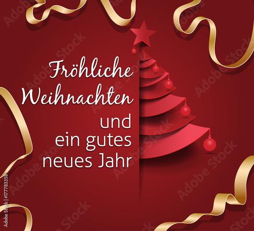 Fröhliche Weihnachten und ein gutes neues Jahr. Creative Christmas ...