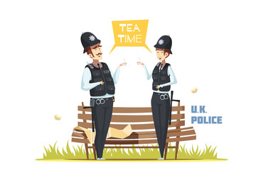 Couple Of Male And Female  Police Officers