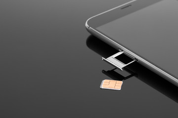Change the SIM card on your smartphone. Extracting a SIM card