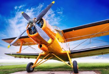 biplane against sky