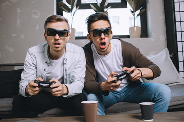 Gamers playing party