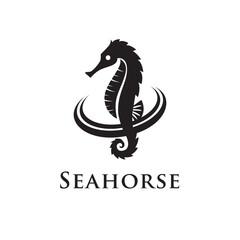 seahorse with circle logo