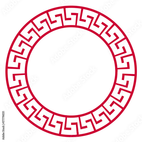 Red china frame vector design.\