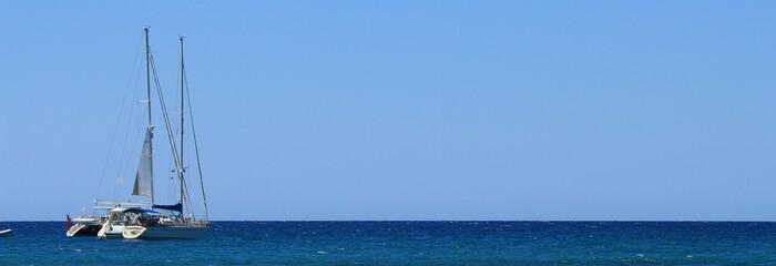 Boote im freien Meer