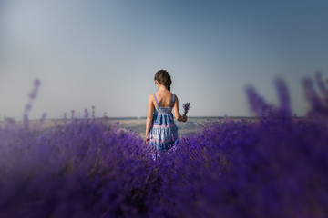 the girl goes to lavender